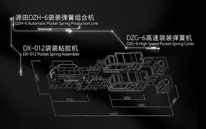DZH-6 Línea de Producción Automática de Muelles de Bolsillo