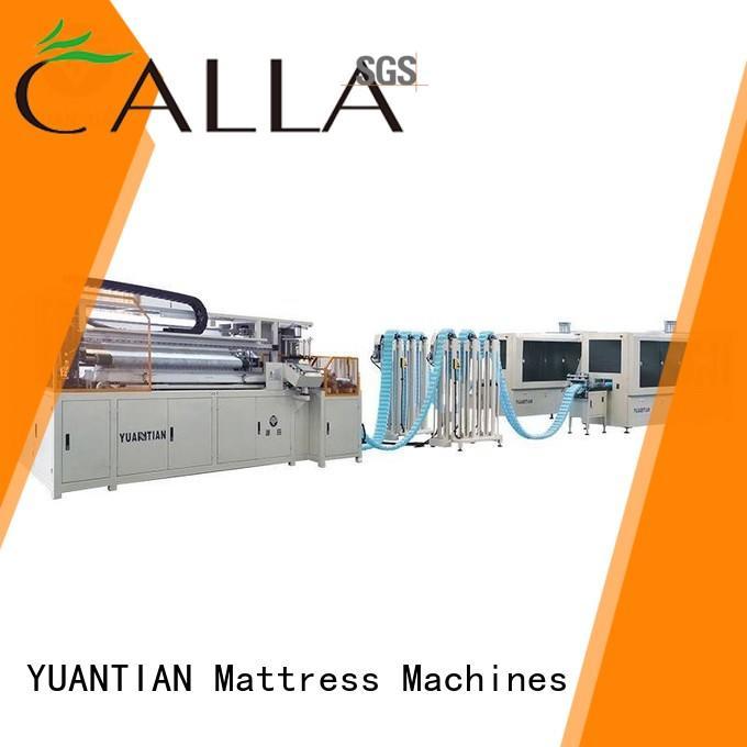 YUANTIAN Mattress Machines pocket cnc spring coiling machine from manufacturer workshop