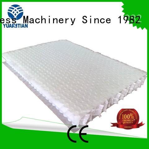 pocket bottom mattress spring unit zoned YUANTIAN Mattress Machines Brand