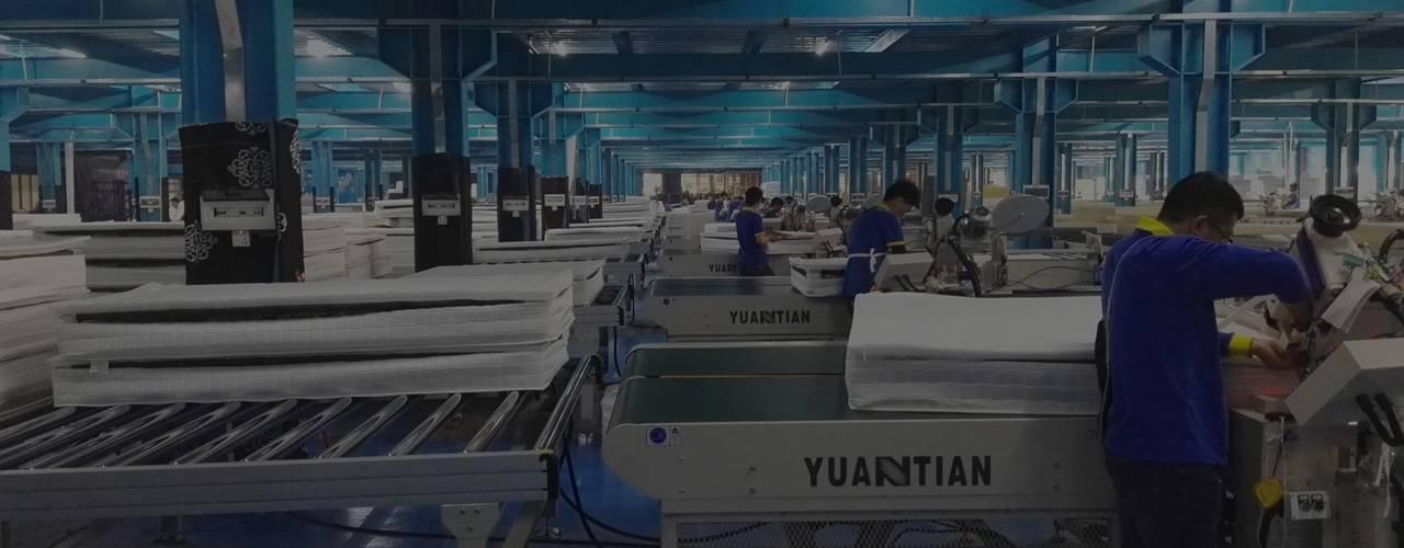 YUANTIAN La automatización de la línea de<br> producción de colchones soluciones de expertos