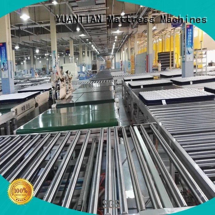twin mattress to king converter transfer conveyor Auto Mattress Conveyor Production Line YUANTIAN Mattress Machines Brand