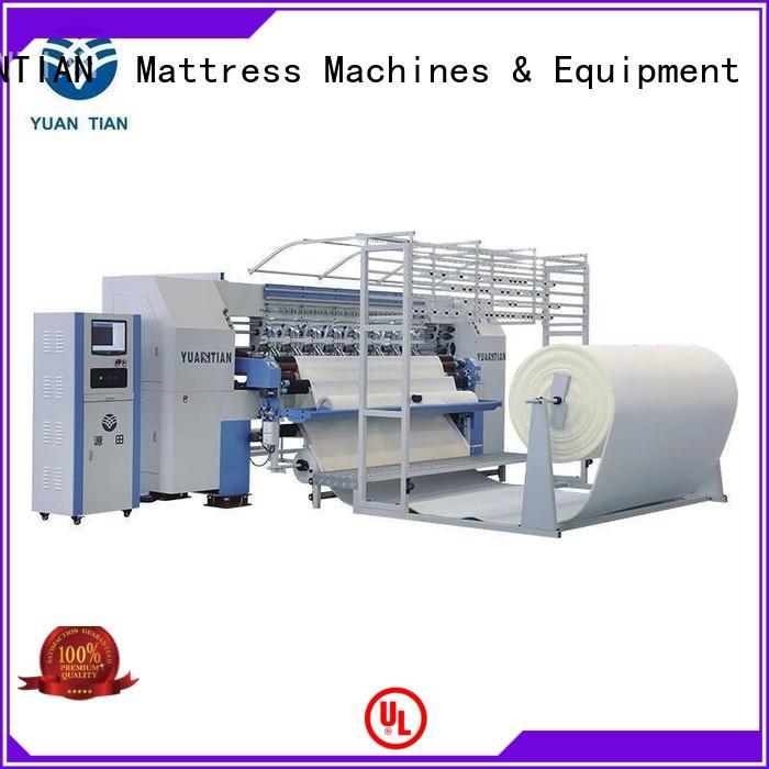 YUANTIAN Mattress Machines heads quilting machine for mattress factory easy-operation